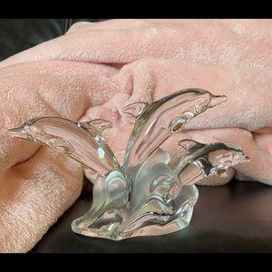 Lenox Crystal Figurine Three Dolphins
